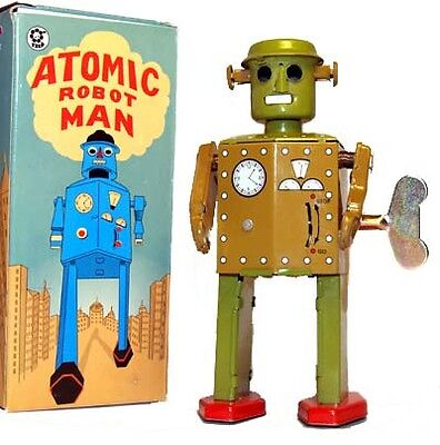 Atomic Robot Man Windup Tin Toy Vintage Style on Rummage (1/1)
