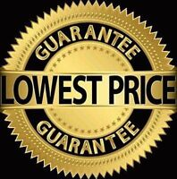 Lowest Prices Guaranteed, We Save Families $$$