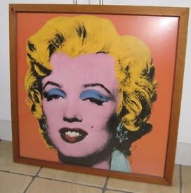 """High quality Framed Giclee Art Print """" Shock Orange Marilyn"""" By Andy Warhol 1964. OFFERS WELCOME."""