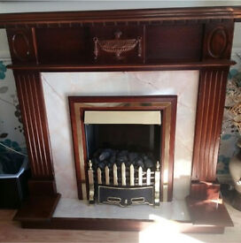 Beautiful Burley Electric Fire and Surround