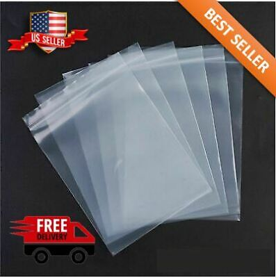 2x 3 Clear 2 Mil Zip Lock Bags Poly Plastic Reclosable Seal Mini Small Baggies