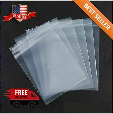 2x 3 Clear 2 Mil Zip Lock Bags Poly Plastic Reclosable Seal Mini Small Baggies