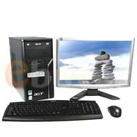 Acer dual core desktop LED & all accessories