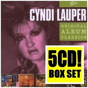 CYNDI LAUPER 5CD NEW She's So Unusual/True Colors/Night Remember/Hat Full/Avalon