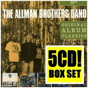 ALLMAN BROTHERS BAND 5CD NEW Seven Turns/Shades/Evening/Where It All/Evening 2nd