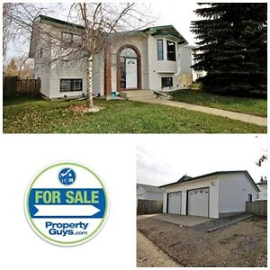Bi-Level with double detached garage!! Innisfail