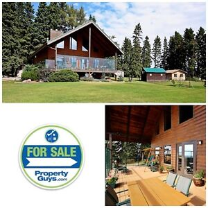 Log Home close to Red Deer on acreage!