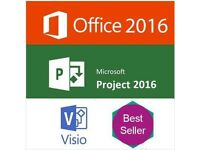 Microsoft office, Visio, Project Full Version with key