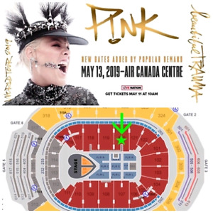 WOW! P!NK Toronto May 13 - 2019 Platinum Tickets @ Awesome Price