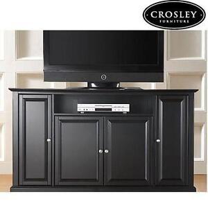 NEW CROSLEY 60'' TV STAND BLACK ALEXANDRIA LARGE TV STAND 105420879