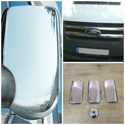 Stainless Steel Chrome Key Lock Covers 3 Pieces MK6 /& MK7 TRANSIT VAN 2000-2013