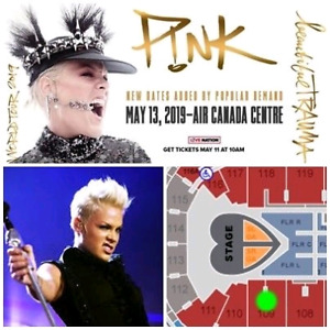 PINK @ SCOTIABANK ARENA–SECT. 109–AMAZING SEATS–CLOSE TO STAGE!!