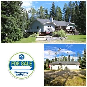 Acreage with walkout bungalow & Det garage! Rocky Mountain House