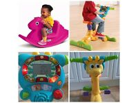 VTech Bounce & Ride Bike Giraffe / Little Tikes Rocking Horse