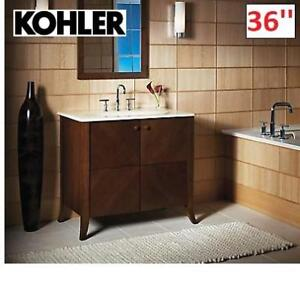 NEW* KOHLER 36'' VANITY CABINET K-2491-F39 224408065 CLERMONT OXFORD FINISH BATHROOM