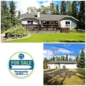 Acreage with walkout bungalow, Rocky Mountain House