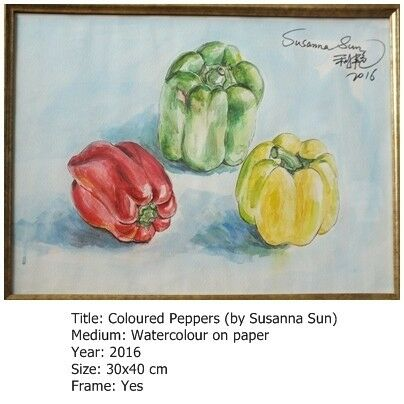 Coloured Peppers by Susanna Sun