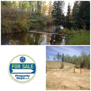 Rare acreage 22 km northwest of Rocky Mountain House!