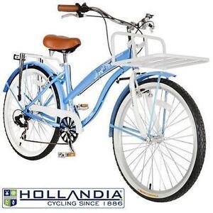 "NEW HOLLANDIA F1 LAND CRUISER BIKE - 102041005 - WOMEN'S BIKE - BLUE - 26"" WHEELS - 17"" FRAME 6 SPEED BICYCLE"