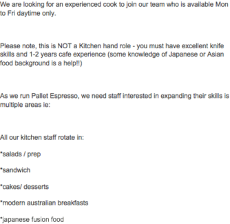 kitchen hand responsibilities