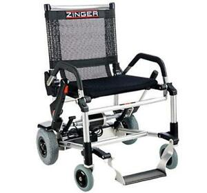 ZINGER Folding Power Chair is now in  EDMONTON at www.MyScooter.ca