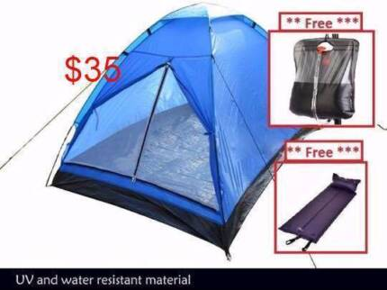 Two Person Camping Tent-Free inflatable mattress and camp shower