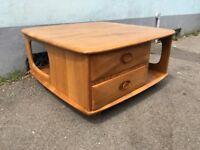 Ercol Pandoras Box Coffee Table in Elm and Beech. Vintage, Retro, Mid Century