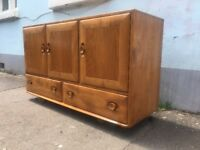 Ercol windsor Sideboard in Elm and Beech. Vintage/Retro/Mid Century/Interiors