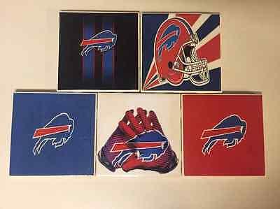 Buffalo Bills Coaster - Buffalo Bills Ceramic Tile Coasters (Set of 5)
