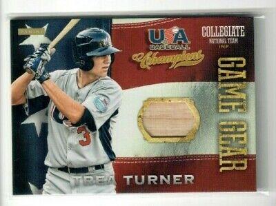 TREA TURNER 2013 Panini USA Baseball Champions Gear GAME USED BAT CARD NATIONALS