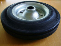 "200mm 8"" Galvanised Heavy Duty Solid Hard Rubber Jockey Wheel Trailer Caravan"