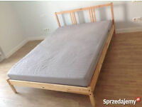 IKEA FJELLSE double bed frame with Sultan mattress, excellent condition, CAN DELIVER