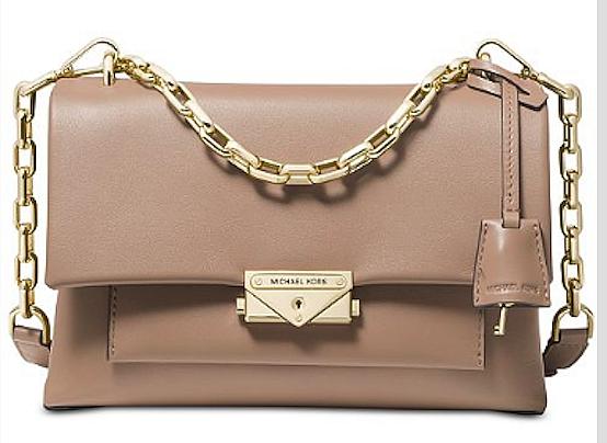 Michael Kors Cece Chain Medium Truffle-Gold Crossbody Shoulder Bag