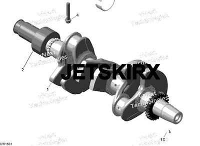 Seadoo Spark crank shaft assembly crankshaft Sea-doo 420819808