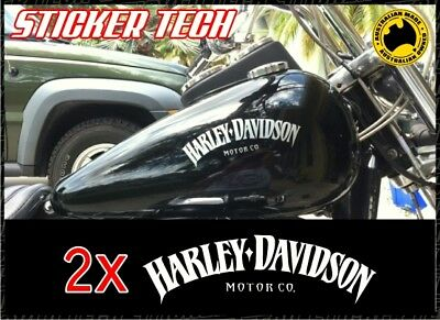 2X HARLEY DAVIDSON TANK STICKERS DECALS SUIT SPORTSTER V ROD ROADSTER IRON (1200 Sticker)