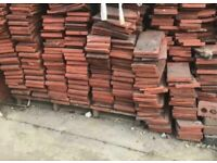 Clay roof tiles.