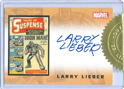 """LARRY LIEBER """"AUTOGRAPH CASE TOPPER"""" IRON MAN MOVIE TRADING CARDS"""