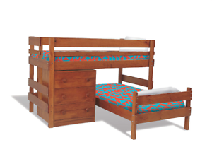 Bunkers Lo-Line corner bunkbed (white) + Lo-line chest Sherwood Brisbane South West Preview