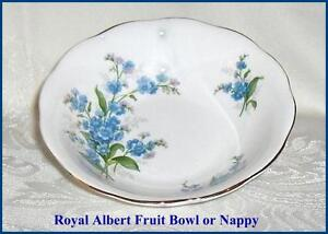 Forget-Me-Not Royal Albert  Bone China Nappy or Fruit Bowl