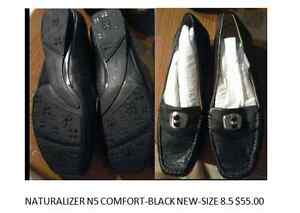Black leather shoes by Naturalizer