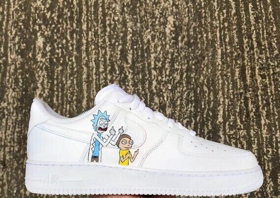 coupon code unique design good looking Rick & Morty custom Air Force 1 | in Sutton, London | Gumtree