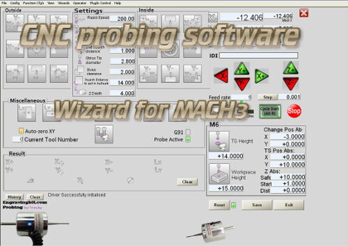 CNC DIGITIZING touch PROBE software wizard for Mach3 mill router cad cam