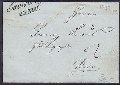 Österreich Vorphila Gaunersdorf Brief 1840 mit L2 Gaunerssdorf - Wien