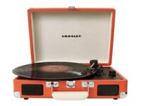 Crosley Cruiser Briefcase Style Three-Speed Portable Turntable in Orange