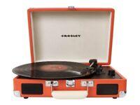 Crosley Cruiser Briefcase Style Three-Speed Portable Turntable in Orange