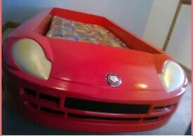 Childs Red Sports Car Bed