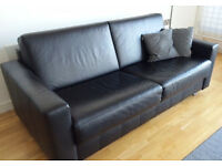 High Quality Black Leather Sofa Bed on sale
