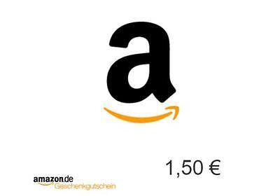 1,50 Euro Amazon Gutschein Gutscheincode Code Voucher Einkaufsgutschein / SOFORT