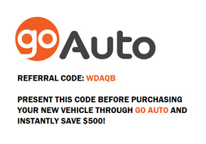 SAVE $500 ON YOUR NEXT VEHICLE PURCHASE WITH GO AUTO!