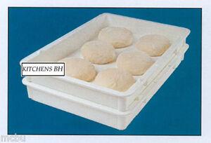 5 Pizza Dough Boxes -Dough Trays - Self-Stacking